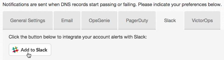 Add DNS Check to Slack Button
