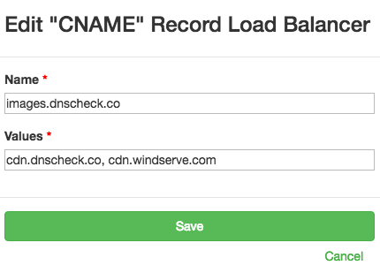 Check CNAME load balancer with DNS Check