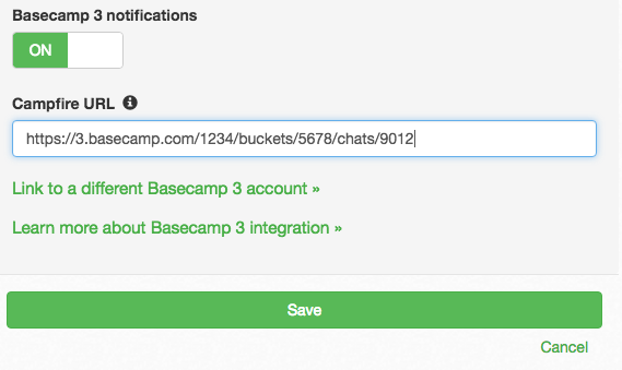 DNS Check / Basecamp 3 Notification Settings