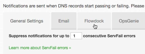 DNS Check Flowdock Tab