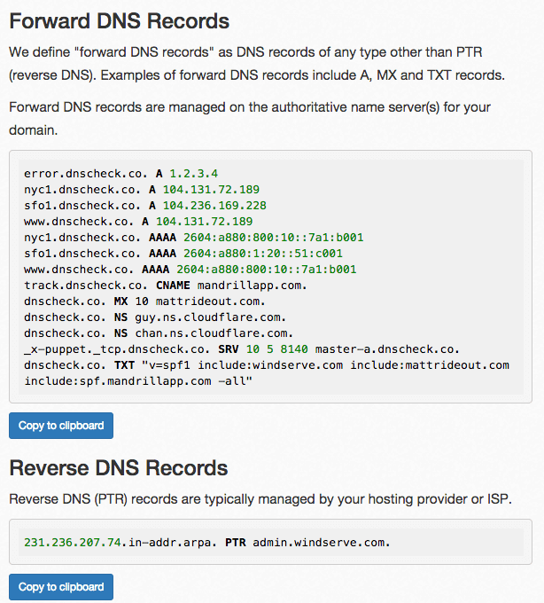 Export DNS records to zone file